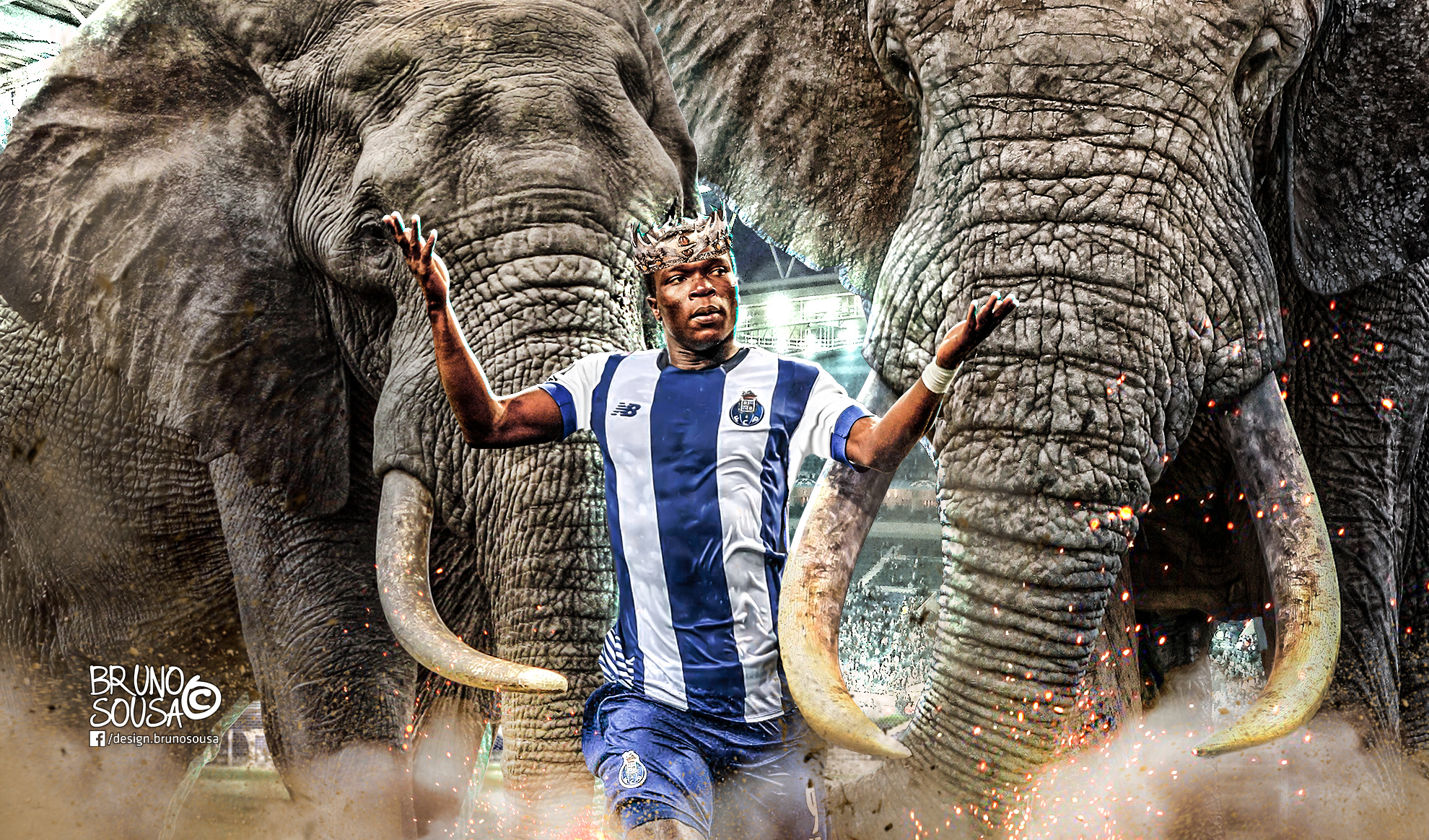 FC Porto - Aboubakar - BrunoSousa Photoshop